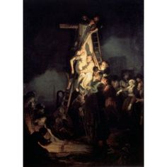 The Descent from the Cross 1634 Rembrandt Harmensz van Rijn (1606-1669 Dutch) Oil on canvas State Hermitage Museum St Petersburg Russia Canvas Art - Rembrandt van Rijn (18 x 24)