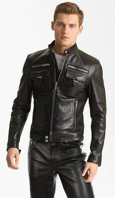 My place to show my love of leather fashion. Trying to find the limit between sexy leather fashion and leather fetish. and you will find pic of my self. Mens Leather Pants, Biker Leather, Cow Leather, Motard Sexy, Moda Men, Leather Fashion, Mens Fashion, Fashion Wear, Winter Leather Jackets