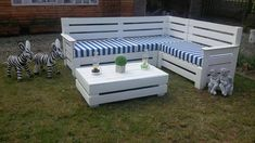 pallet cushioned sectional sofa set