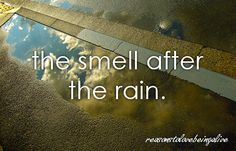 <3 The smell after the rain.