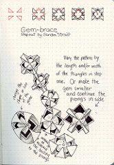 Gem-Brace Tangle Pattern (molossus, who says Life Imitates Doodles) Tags: zentangle zentangleinspiredart rhodiarama exaclair tanglepattern
