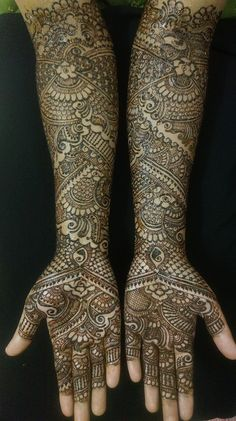 Intricate henna pattern