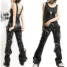 techno style clothes | Black Alternative Skull Punk Emo Fashion Scene Clothing Pants Shorts