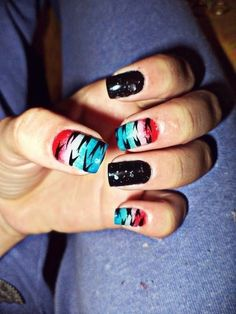 Great 4th if July nails.
