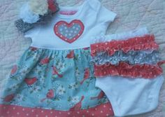 Check out this item in my Etsy shop https://www.etsy.com/listing/278310852/baby-girl-3pc-set-infant-summer-dress