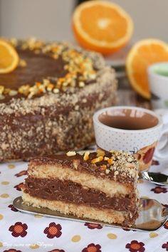 Torta arancia e crema al cioccolato,Oggi cucina nonna Virginia