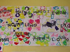 Mise en valeur des prénoms - Des Arts Visuels à l'école maternelle
