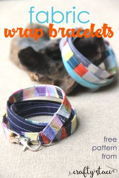 Wonderful Choose the Right Fabric for Your Sewing Project Ideas. Amazing Choose the Right Fabric for Your Sewing Project Ideas. Diy Sewing Projects, Sewing Tutorials, Sewing Crafts, Sewing Tips, Diy Crafts, Fabric Bracelets, Fabric Jewelry, Wrap Bracelets, Jewelry Bracelets