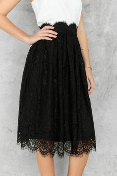 Marcy Lace Midi Skirt