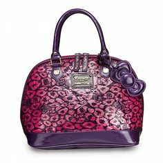 NEW SANRIO Loungefly PINK Purple Leopard Print HELLO KITTY Purse Embossed  patent Hello Kitty Bag c3806a5eea7c3