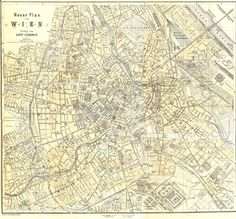 Vintage map of Austria Vienna (It's free for any use... the image is in the public domain - 200dpi 2000x1857px) Source: http://www.tourvideos.com/maps-Austria.html