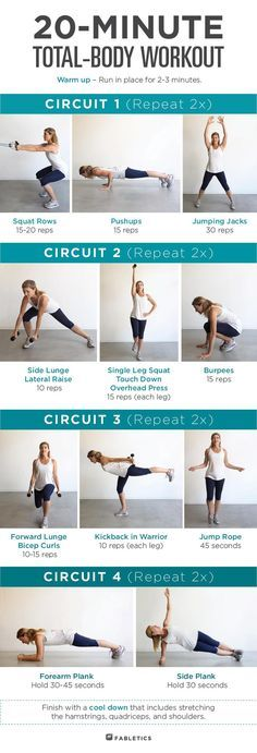 Short on time? Try this quick 20 minute total body workout!   Fabletics Blog