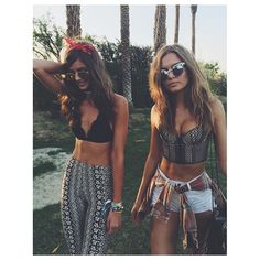 Pin for Later: The Best Style 'Grams From Coachella Weekend 1 —Straight From the Models and Stars Taylor Hill and Josephine Skriver Showed Off Their Bralettes