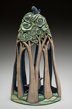 This is awesome – Ceramic Art, Ceramic Pottery Sculpture Clay, Ceramic Sculpture, Coil Pottery, Tree Sculpture, Ceramic Clay, Glass Art Sculpture, Slab Ceramics