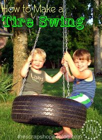 how to make a tire swing. Make a tire swing for your kids to enjoy spring summer and fall Backyard Projects, Outdoor Projects, Outdoor Ideas, Backyard Ideas, Diy Projects, Outdoor Play, Outdoor Living, Outdoor Swings, Backyard Swings