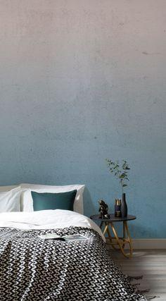 Ocean Mist Blue Ombre Wall Mural