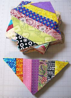 picture shows a fabulous idea for using up scraps