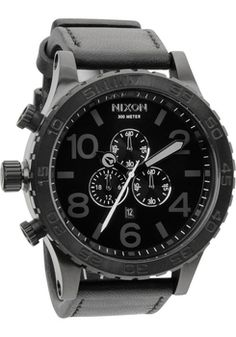Nixon 51-30 Chrono Leather -All Black