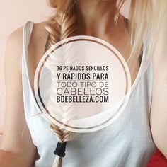Aprende en este artículo a recrear peinados sencillos y rápidos para el día a día para todo tipo de cabellos y para cualquier ocasión.