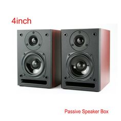 Portable Quality 4 inch Passive Car Audio hifi Wooden Speakers Hi End KTV boom Box Stage