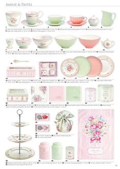 Gorgeous delicate green & pink designs❣ Greengate Europe