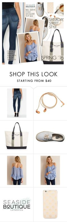 """""""Street Style"""" by seaside-boutique ❤ liked on Polyvore featuring Happy Plugs, Yves Saint Laurent and Kate Spade"""