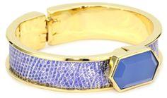 KARA by Kara Ross Narrow Hexagon with Metallic Blue Lizard Cuff Bracelet « Xquisite Beauty
