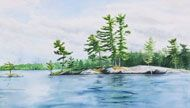 Water, Lake and River watercolor paintings by Debbie Homewood, landscape artist and painter, Ontario Canada Watercolor Landscape, Watercolor Paintings, Nature Prints, Stony, House In The Woods, River, Drawings, Illustration, Artist