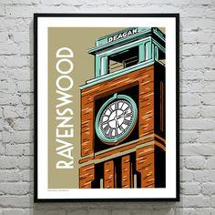 RAVENSWOOD Chicago Neighborhood Poster. $35.00, via Etsy.