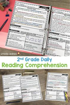 This Reading Comprehension Passages Bundle is great for 2nd grade or homeschool students. Pack includes 100 reading passages for your second graders. Use during literacy centers, stations, review, enrichment, early & fast finishers, gifted & talented {GATE}, homework, or in small groups. Passages cover skills and strategies such as visualizing, asking questions, main idea & details, text structures & more. {English Language Arts, Activities, Printables, Balanced Literacy} Reading Lessons, Reading Skills, Literacy Skills, Literacy Centers, English Language, Language Arts, Text Structures, Fast Finishers, Reading Comprehension Passages