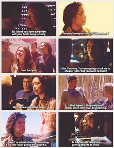Firefly Character Quotes - Zoe Washburne <--- Zoe Washburne is a sassy woman who puts up with a captain like Mal and choosen to have a goofy man bc he couldnt live without her. Character Quotes, Nathan Fillion, Joss Whedon, Buffy The Vampire Slayer, Geek Out, Inevitable, Conte, Best Tv, Favorite Tv Shows