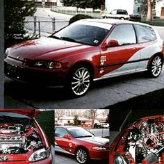 Check out Todd Scott's mods, gallery and more on their 1993 Honda Civic Hatchback Showcase at PureHonda.com. #PureHonda