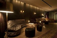 The Standard, East Village: The recently opened restaurant serves excellent inventive fare. Beautiful Places To Live, Beautiful Life, New York Hotels, Comfy Sofa, Hotel Interiors, East Village, Hotel Lobby, Hospitality Design, Rustic Elegance