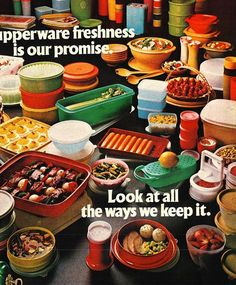 Vintage Tupperware advertisement