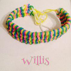 Rainbow Willis Bracelet made on fork
