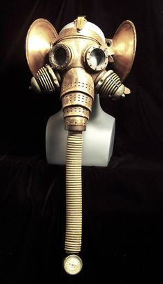 Elephant mask - If It's Hip, It's Here: Steampunk Gas Masks & Helmets So Exquisite, They'll Leave You Breathless.