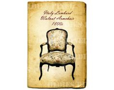 Vintage Furniture 1800s Italy Lombard Walnut by OldiesPixel, $3.25