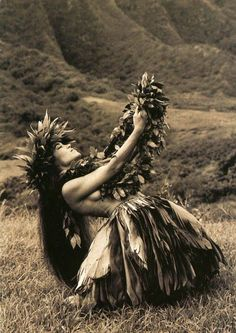 Hula Kahiko - traditional dance in Hawaii.