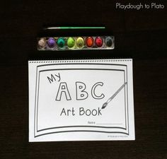 Free printable ABC Book for Kids. So fun! Preschool Literacy, Preschool Letters, Letter Activities, Learning Letters, Literacy Activities, Teacher Planner Free, Playdough To Plato, Book Names, Letter Recognition