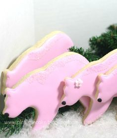 Winter Polar Bear Cookies