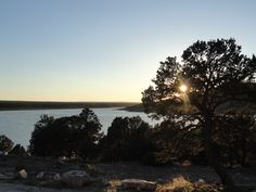 Sunset over Bluewater Lake SP, New Mexico