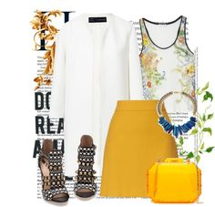 """""""yellows"""" by dramabynd on Polyvore"""