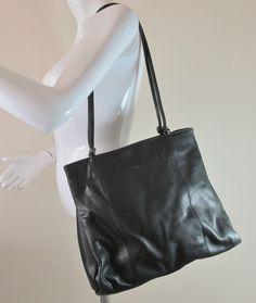 Vintage Tula By Radley Co Black Leather Over Shoulder Bag Handbag Purse R13910