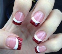 Sparkly red and white