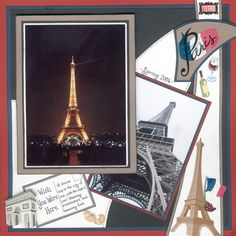 Paris scrapbook page... wish you were there!