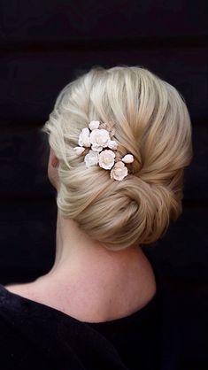 Blonde Bridal Hair, Blonde Hair, Burgundy Wedding, Autumn Wedding, Chignon Hair, Luxury Hair, Girls Life, Hair Accessory, Medium Hair Styles
