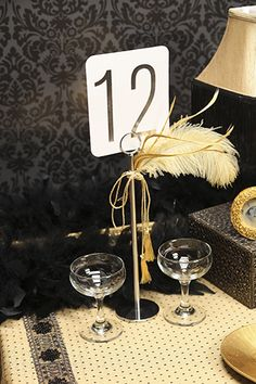 Table Number Card - Silver (ZJK23862 - Quite Personally!) #CarlsonCraft. See this and a lot more at www.invitationsbydeborah.com.