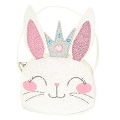 Claire's Club Claire the Bunny Glitter Purse, Pucker Pops, Cute Food Wallpaper, Kids Tote Bag, Glitter Purse, Doodle Cartoon, Safari Birthday Party, Baby Slippers, Girls Bags, Doll Patterns