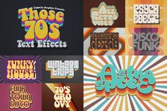 Preview image 1 for 70s Retro Text Effects
