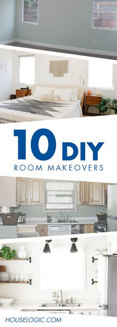 You won't believe these DIY room makeover pictures! You'd think a pro did them, yet these kitchen and living room DIY remodels were done on a budget.